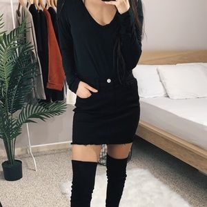 LAST 2 🆕 Hazel - Black Denim Skirt